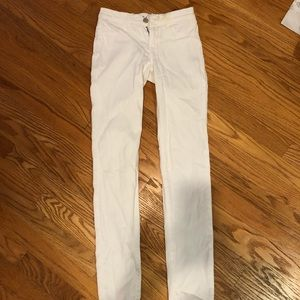 J Brand white skinny jeans.
